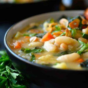 Tuscan White Bean Soup by Cilantro & Citronella.